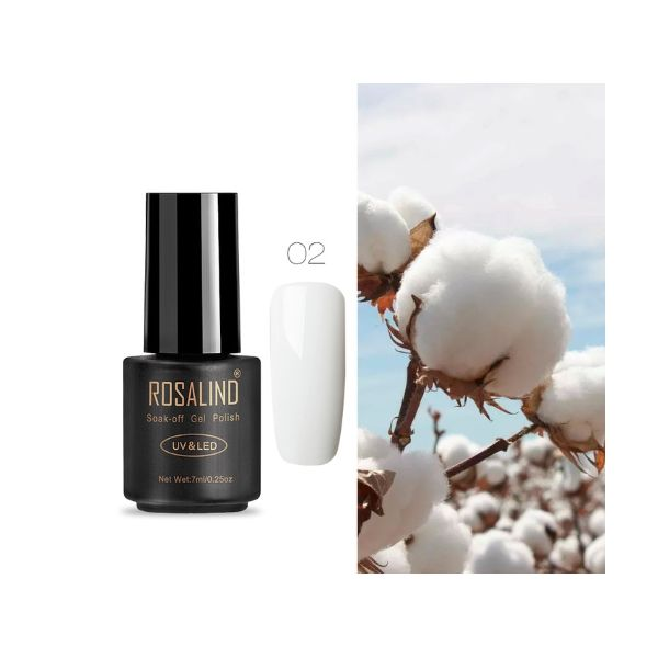 02 white art gel extension nail polish
