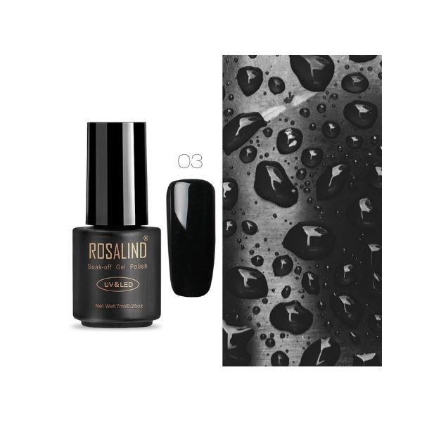 03 black art gel extension nail polish