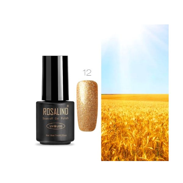 12 yellow art gel extension nail polish