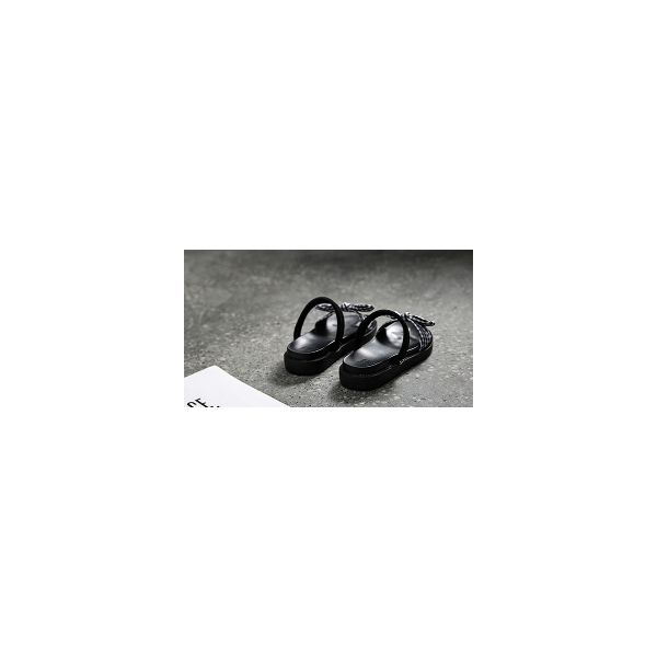 Flat-bottomed bowknot lady sandals