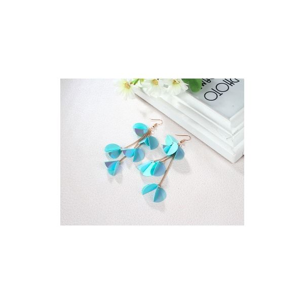 Popular jewelry sequins colorful long fairy earrings