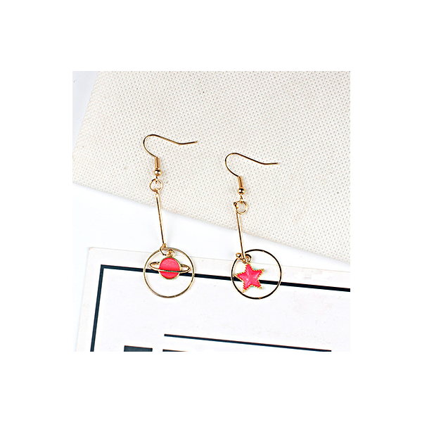 Red universal earring series E style