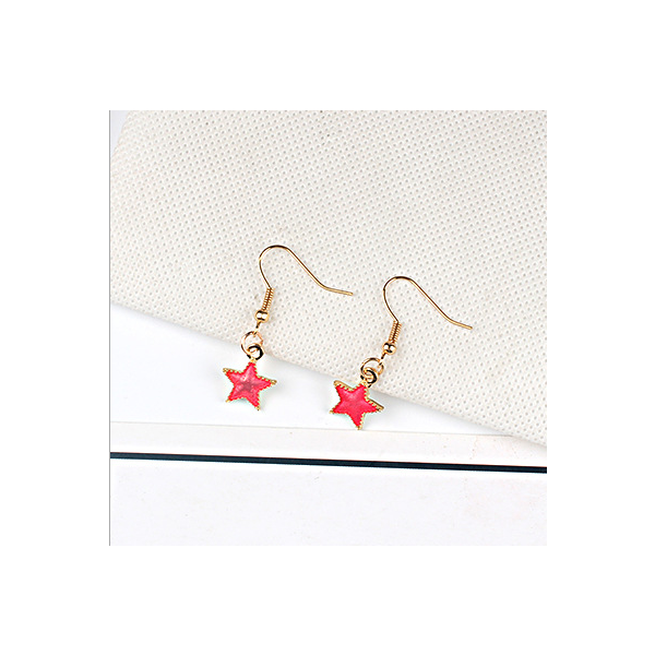 Red universal earring series D style