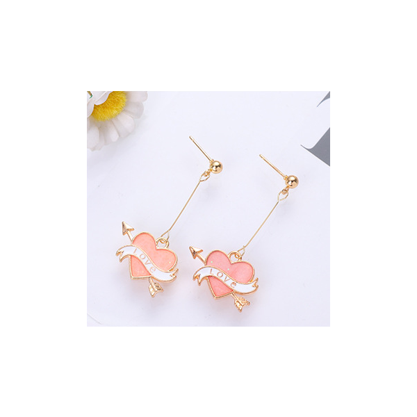 Korean heart-shaped high quality small fresh earring