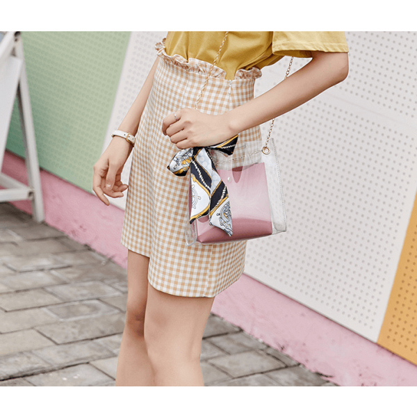 Spring/summer 2019 new women's shoulder bag fashion transparent jelly bag