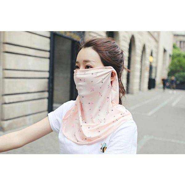 Thin cool floral breathable ice mask