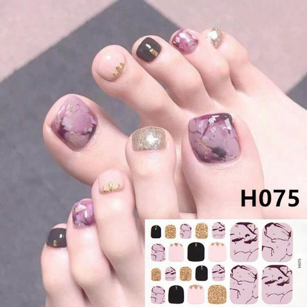 H075 Tear the earth foot nail stickers nail tools foot beauty