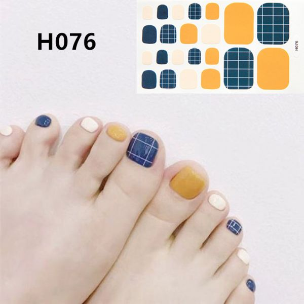 H076 Prague morning foot nail stickers nail tools foot beauty