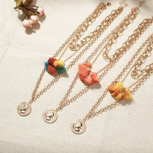 Classic coin wild necklace
