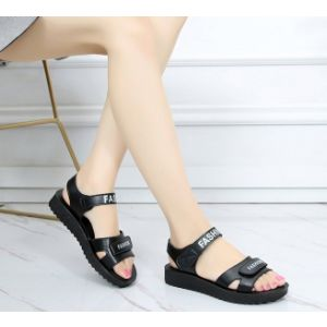 Korean soft bottom massage latex flat and lady's sandal