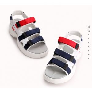 Korean version of thick bottom magic paste open-toed lady sandals