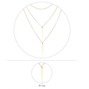 Coin multi-layer longt necklace