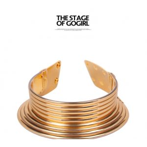 National wind exaggerated personality metal collar wholesale