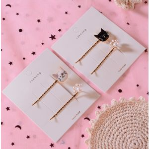 Korea cute cat hairpin clips