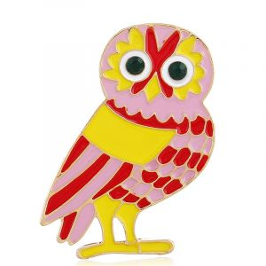 Owl corsage cartoon brooch