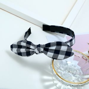 Cat ears new plaid fabric hair accessories