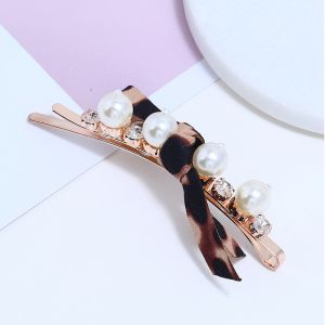 Ins hairpin  pearl side clip