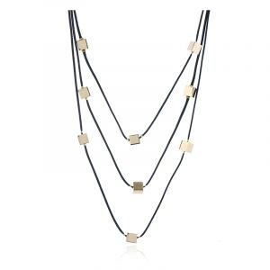 Square necklace bead chain