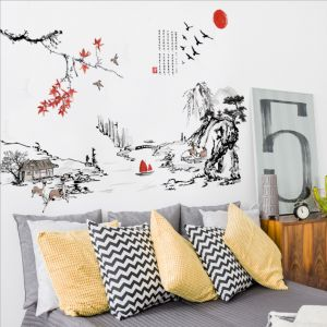 MAMAMYA Wall Stickers Chinese Painting for Bedroom Home Decoration Under 150