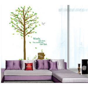 MAMAMYA Wall Stickers Green Tree for Bedroom Home Decoration Under 150