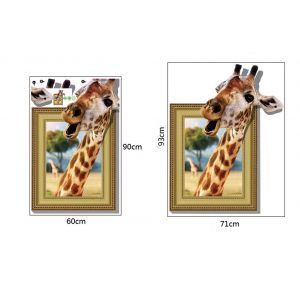 MAMAMYA 3D Wall Stickers Giraffe for Bedroom Home Decoration Under 150