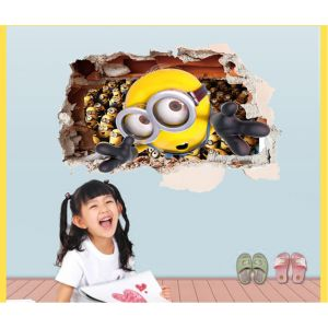 MAMAMYA 3D Wall Stickers Minions for Bedroom Home Decoration Under 150…