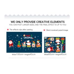 MAMAMYA Wall Stickers Christmas for Bedroom Home Decoration Under 150