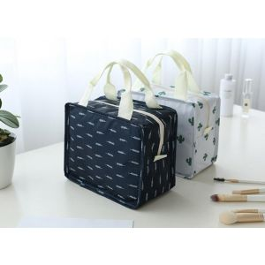 Large capacity cosmetic bag clutch