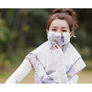 Large fashion print neck mask for women