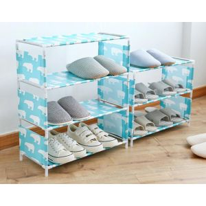 Multilayer household fabric assembly shoe rack