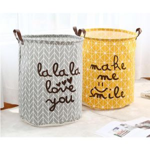 Large waterproof folding laundry basket
