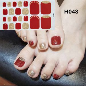 H048 a red letter day foot nail stickers nail tools foot beauty