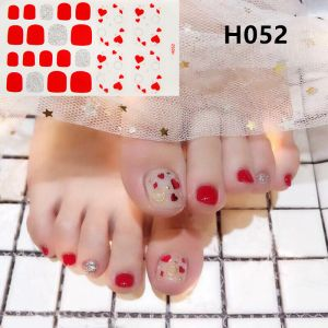 H052 Little hearts foot nail stickers nail tools foot beauty