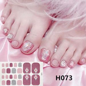 H073 Pink energy foot nail stickers nail tools foot beauty