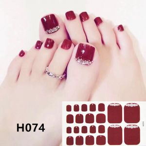 H074 The red ring foot nail stickers nail tools foot beauty