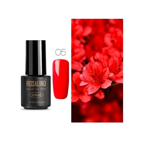 05 red art gel extension nail polish