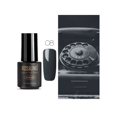 08 black art gel extension nail polish