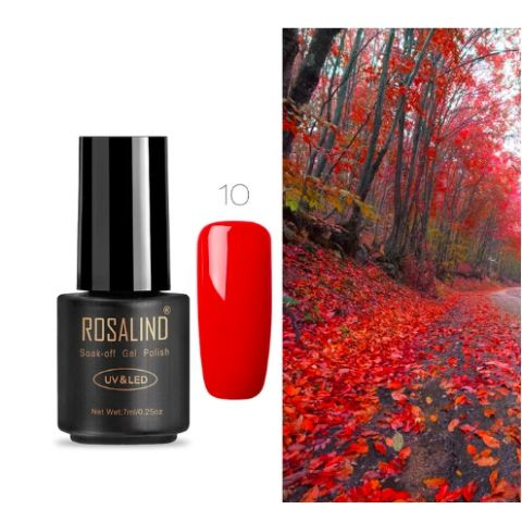 10 red art gel extension nail polish