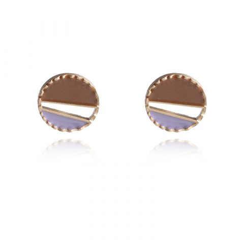 Fashion sweet geometric irregular drop glaze earrings