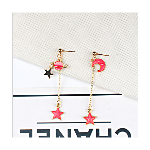 Red universal earring series B style