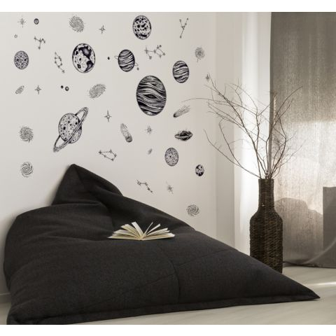 MAMAMYA Wall Stickers Universe for Bedroom Home Decoration Under 150