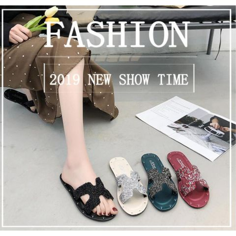Leisure flat-bottomed British shoes pedal spring and summer women's shoes
